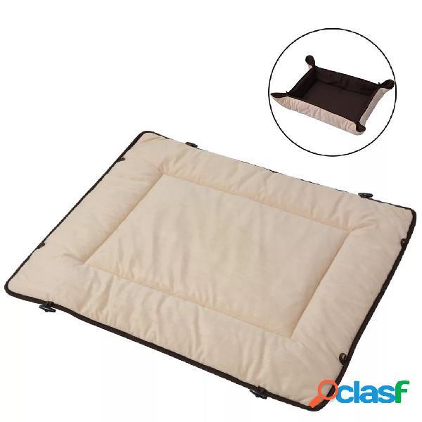 Vidaxl letto per cani marrone 65x100 cm