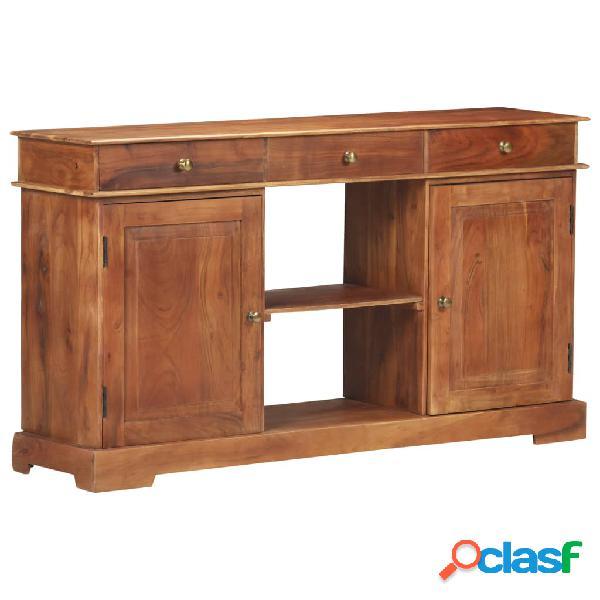 Vidaxl credenza 135x35x75 cm in legno massello di acacia
