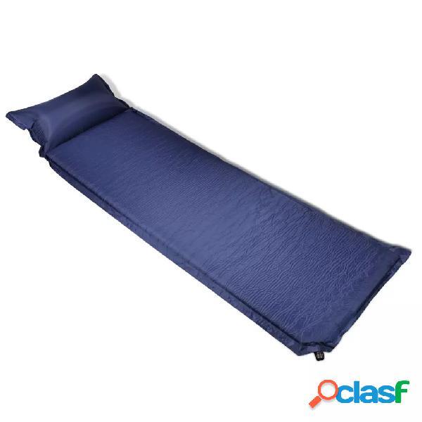 Vidaxl materasso ad aria 6x66x200 cm blu con cuscino autogonfiabile