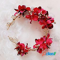 Ottone / tessuto cerchietti / cappelli con fantasia floreale 1pc matrimonio / occasioni speciali / all'aperto copricapo miniinthebox