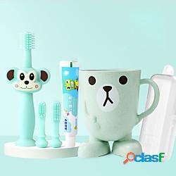 Spazzolino da denti per bambini a 360 gradi set da 5 pezzi per addestramento infantile design sicuro denti morbidi e sani per lavarsi i denti in silicone 1 set miniinthebox
