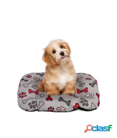 Cuscino per cani materasso rettangolare taglia l grigio