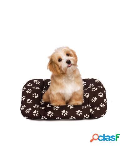 Cuscino per cani materasso rettangolare taglia s marrone