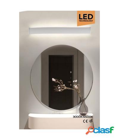 Applique lampada da specchio lineare luce up&down 3000-6500k 18w 51 cm