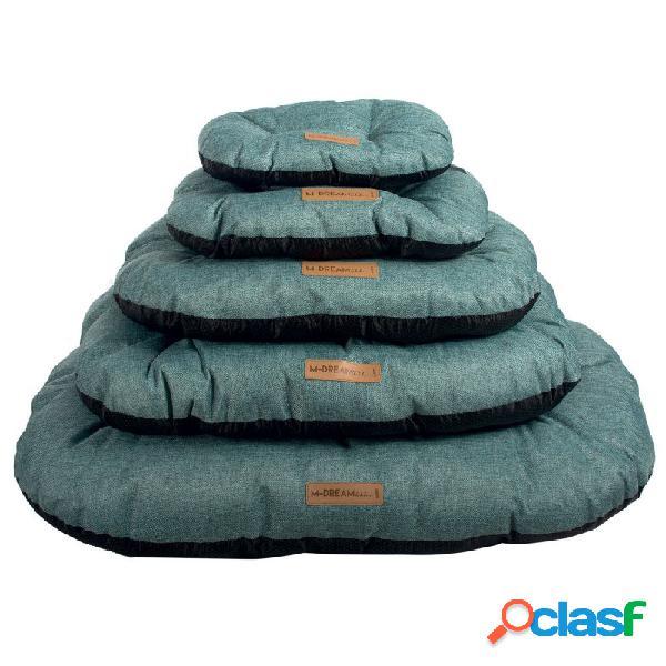 M-pets - m-pets oleron oval blu cuscino per cani blu misura s - cm 37x24x10