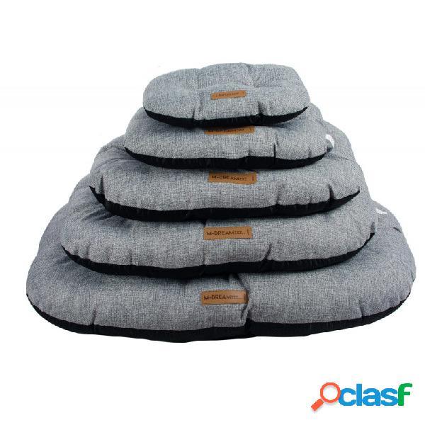 M-pets - m-pets oleron oval grigio cuscino per cani grigio misura s - cm 37x24x10