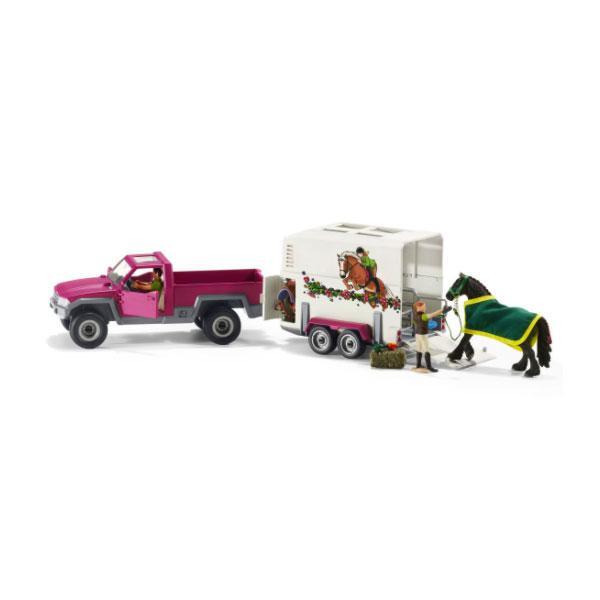 Camion con rimorchio per cavalli