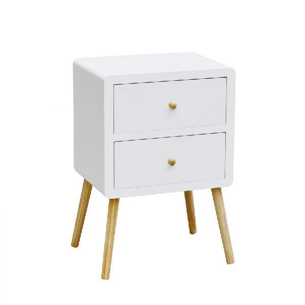 Comodino 2 cassetti jensen di stile nordico  mobili