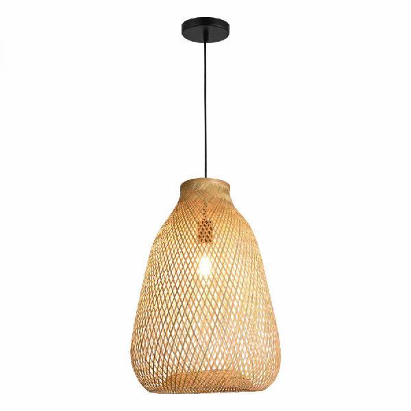 Lampada de bambú pendiente hamptons 【