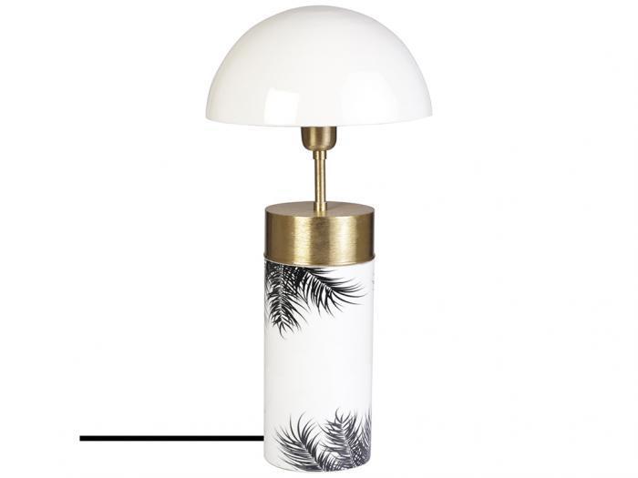 Lampada da tavolo fungo stile art déco 26x26x54 ferro
