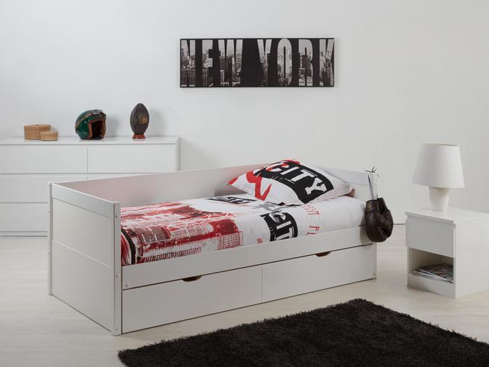 Letto a scomparsa divano alfiero 90 x 190 cm - laccato