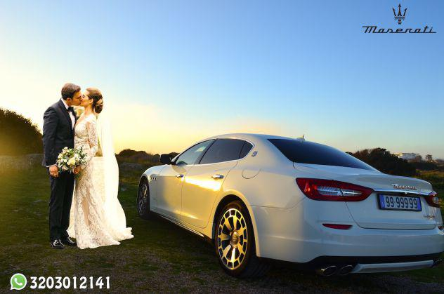 Noleggio auto maserati per matrimonio con autista