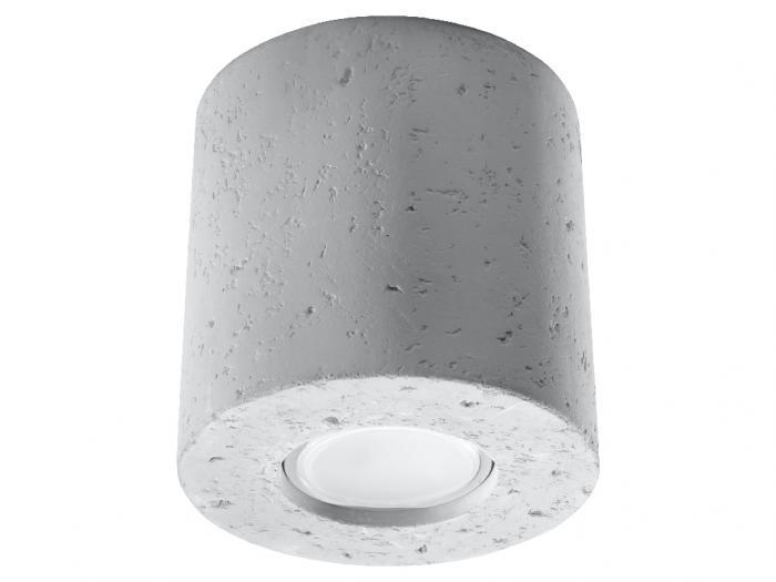 Plafoniera stile industriale calcestruzzo d.10xh.10cm grigio