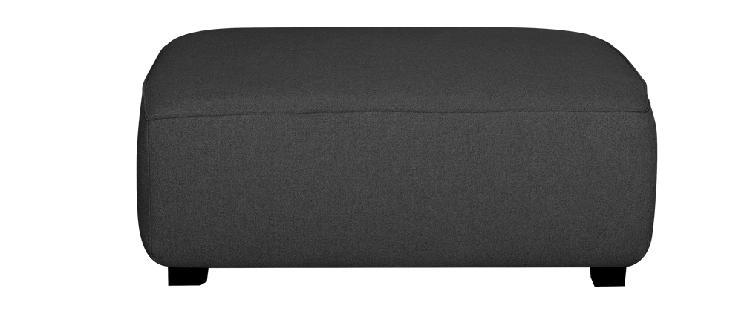 Pouf modulo divano in tessuto grigio antracite pluriel