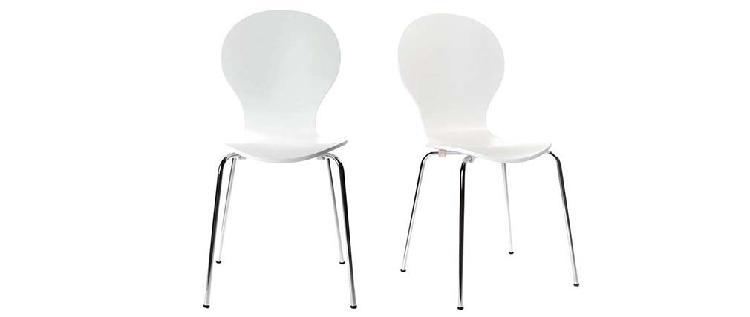 Set di 2 sedie design color bianco new abigail