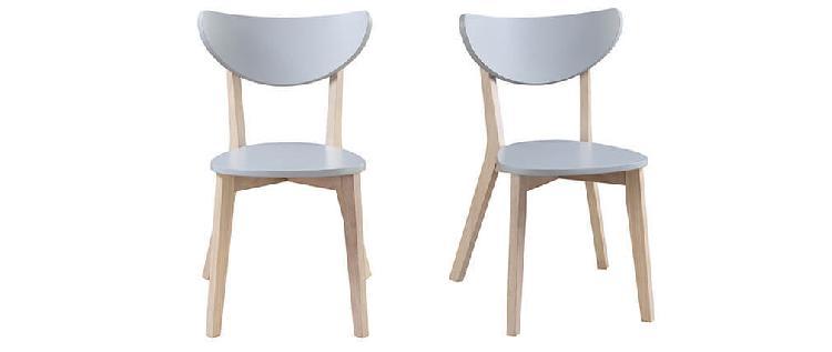 Set di 2 sedie design grigio