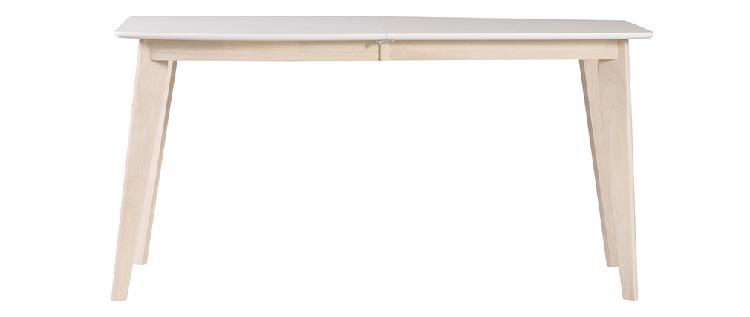 Tavolo da pranzo design allungabile bianco e legno chiaro