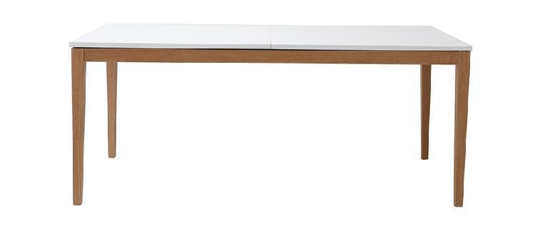 Tavolo da pranzo design allungabile bianco gambe in legno