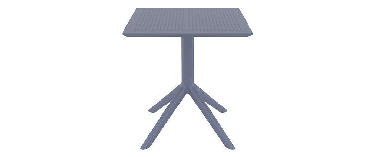 Tavolo da pranzo quadrato design grigio interno / esterno