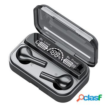 Led 9d hifi tws bluetooth earphones bth-278 - black