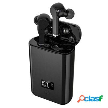 Tws bluetooth earphones with charging base a19 - black