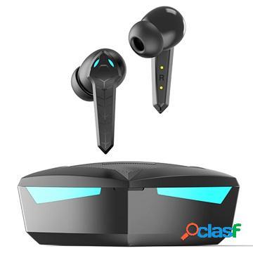 Tws bluetooth gaming earphones with microphone p36 - black