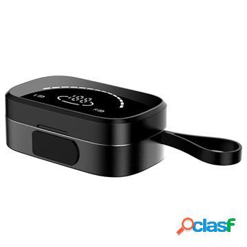 Hifi tws bluetooth earphones with led display k2 - black