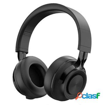 Pieghevole over-ear auricolare stereo bluetooth p1 - nero