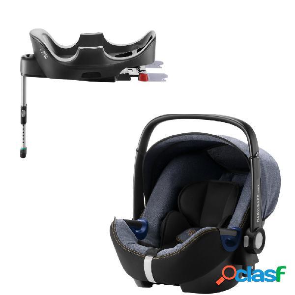Seggiolino auto britax romer baby-safe 2 i-size blue marble+base flex