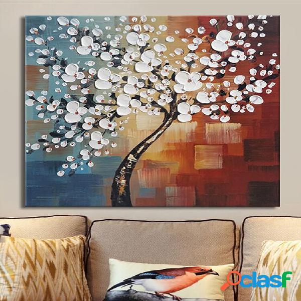 Incorniciato dipinto a mano su tela pittura home decor wall art abstract flower tree decoration