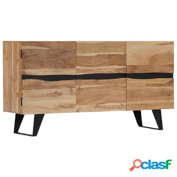 Vidaxl credenza 150x40x79 cm in legno massello di acacia