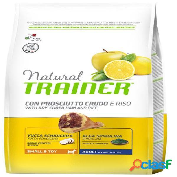 Trainer natural cane small & toy prosciutto/riso kg 2