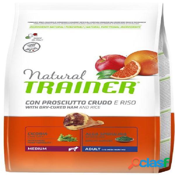 Trainer natural adult medium prosciutto e riso 12 kg