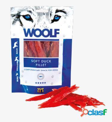 Woolf snack cani monoproteico filetto di anatra essicata 100 gr