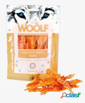 Woolf snack cani monoproteico filetto di pollo jerki bars 100 gr...
