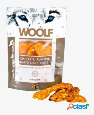 Woolf snack cani monoproteico osso di pollo con zucca e avena 100...