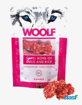 Woolf snack cani monoproteico osso piccolo anatra e riso 100 gr...