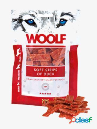 Woolf snack cani monoproteico strisce morbide di anatra 100 gr