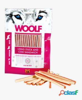 Woolf snack cani sandwich morbido di anatra e merluzzo 100 gr...