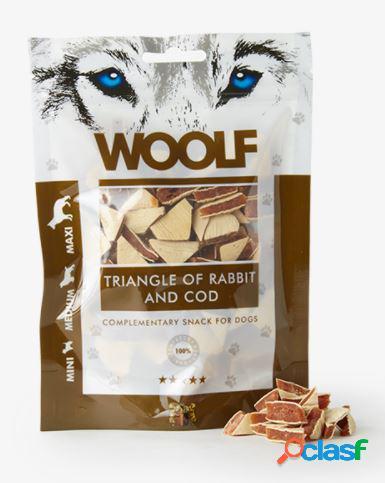 Woolf snack cani triangolini di coniglio e merluzzo 100 gr...