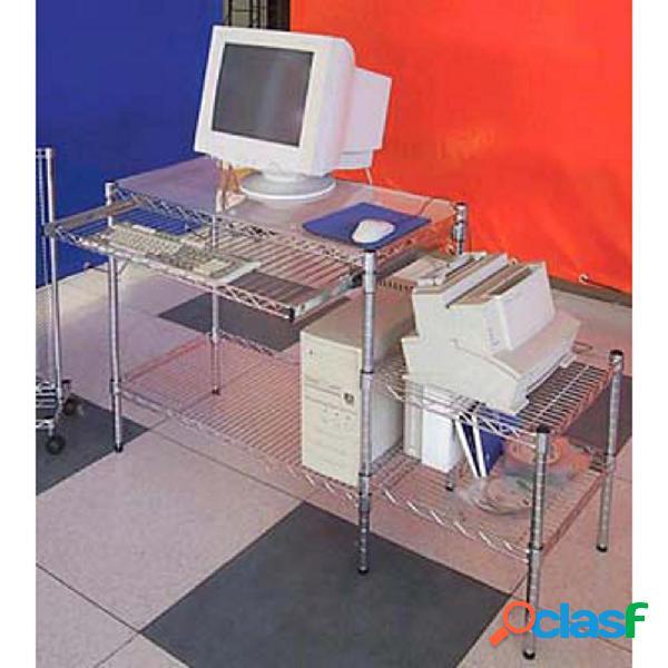 Porta computer con porta stampante h75x130x45 cm