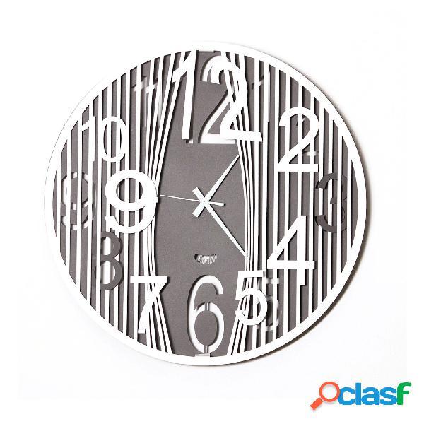 Orologio da parete dal design moderno evasion in metallo, diam.50, colore ardesia-bianco