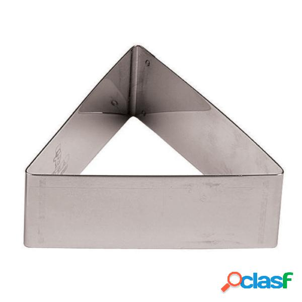 Tagliapasta triangolare in acciaio inox cerchio confezione 6 pz monachelle diametro 6,0xh3 cm inox, peso 0,23 kg