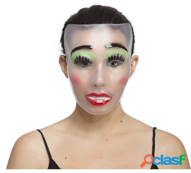 Labbra maschera donna trasparente dipinte