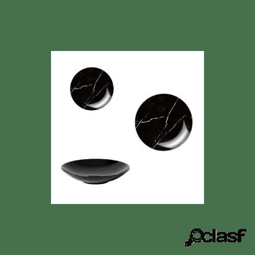 Servizio piatti in porcellana groove, 18 pezzi