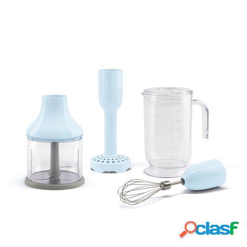 Set 4 accessori per frullatore immersione smeg azzurro