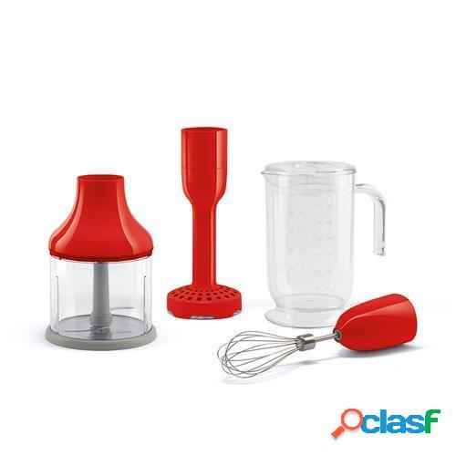 Set 4 accessori per frullatore immersione smeg rosso