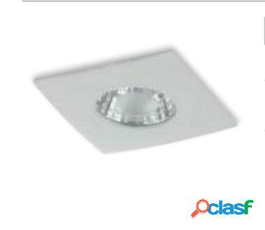 Incasso led nadir bianco 6w 390lm 3200k ip44 9x9x10,5cm inc-nadir-q6c