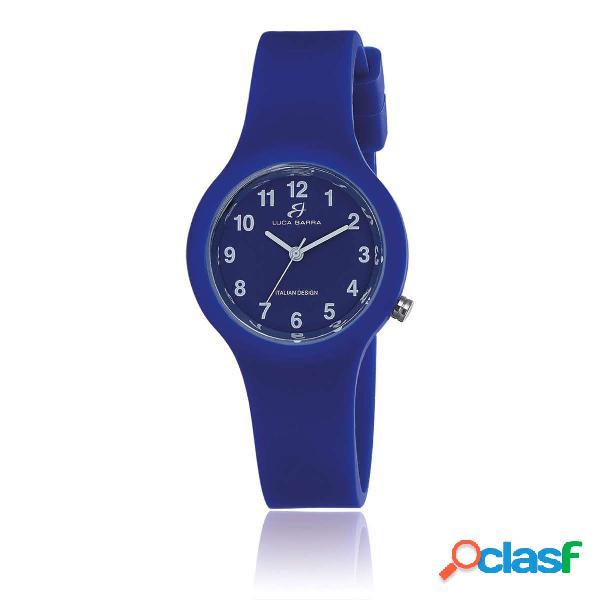 Orologio in silicone blu quadrante blu