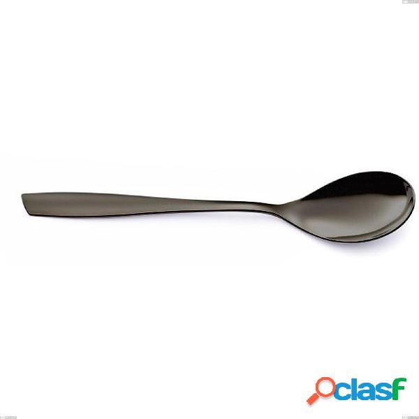 Cucchiaino frutta eleven acciaio inox 18/10 pvd black eleven lunghezza 190 mm spessore 2,5 mm nero